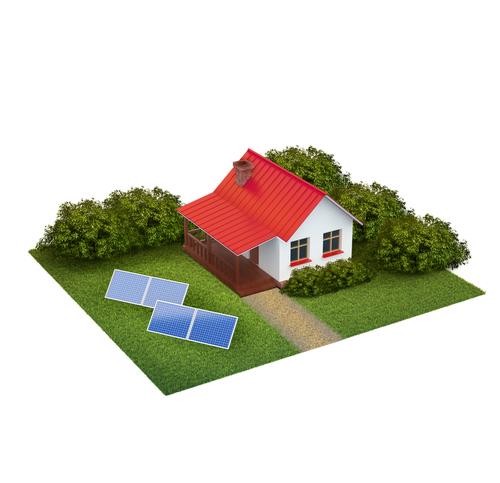 Bild: Entwurf Tiny House mit Solar © Clipdealer