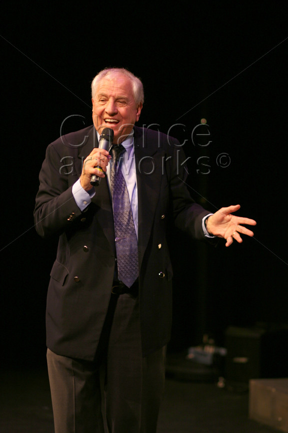 Gary Marshall speaking at a special event.