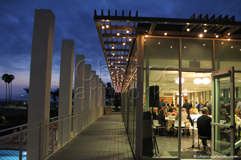 Corporate event at the Annenberg Beach House in Santa Monica.