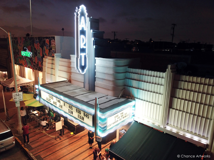 Art Theater on 4th St / Retro Row in Long Beach.