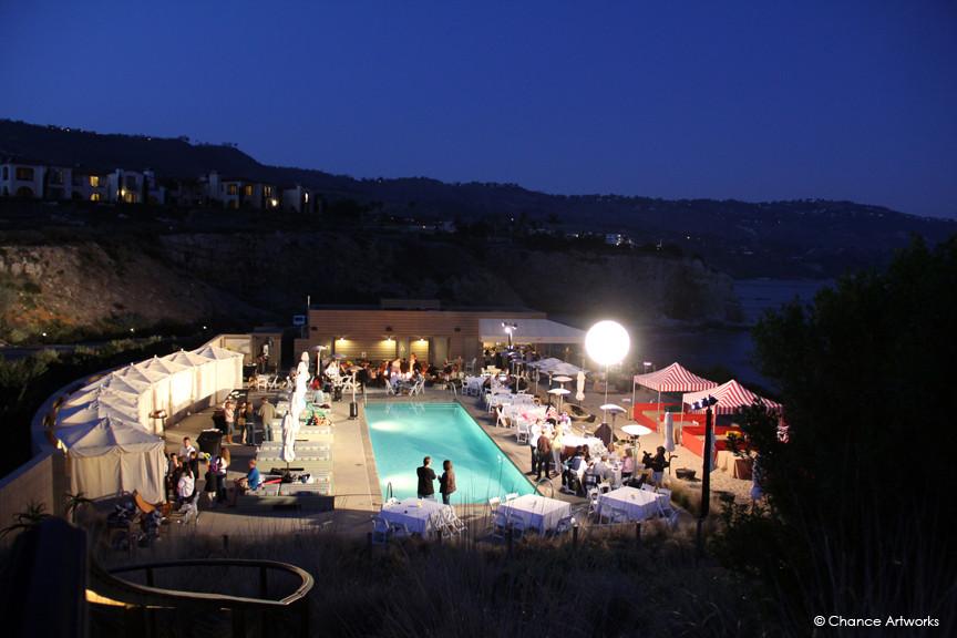 Private party at Terranea Resort in Rancho Palos Verdes.
