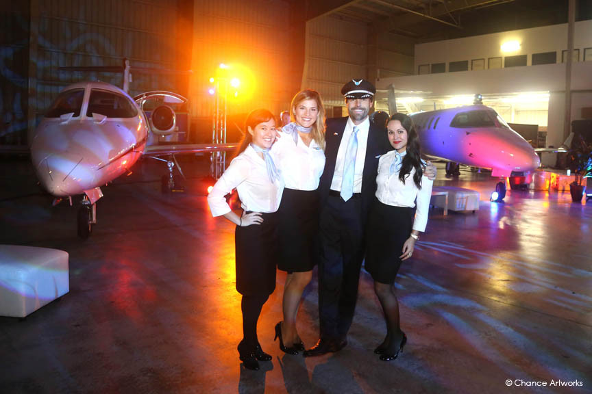 Private party at Clay Lacy Aviation.