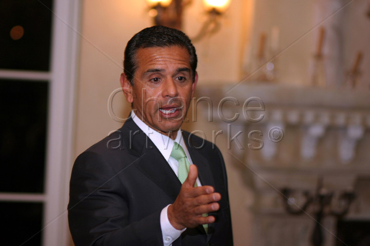 Antonio Villaraigosa speaking at a corporate event.