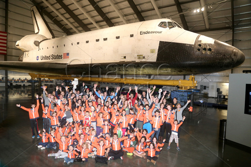 Private event at the Endeavour Shuttle at the California Science Center.