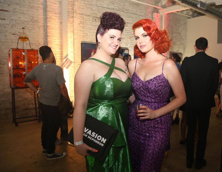 Art exhibit opening reception in Downtown LA.