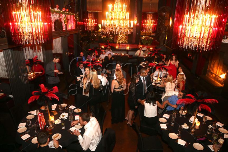 Holiday party at Cafe La Boheme in West Hollywood.