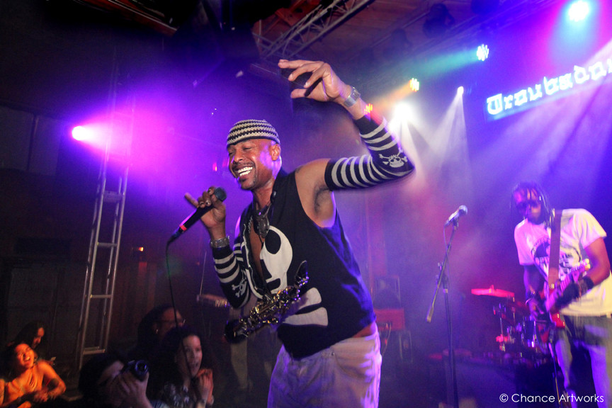 Angelo Moore of Fishbone performing at The Troubadour in West Hollywood.