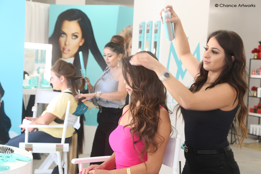 Leyla Milani Hair Pop Up Event at Fashion Island.