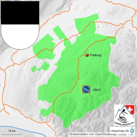 Karte Rodelbahnen Freiburg Schweiz