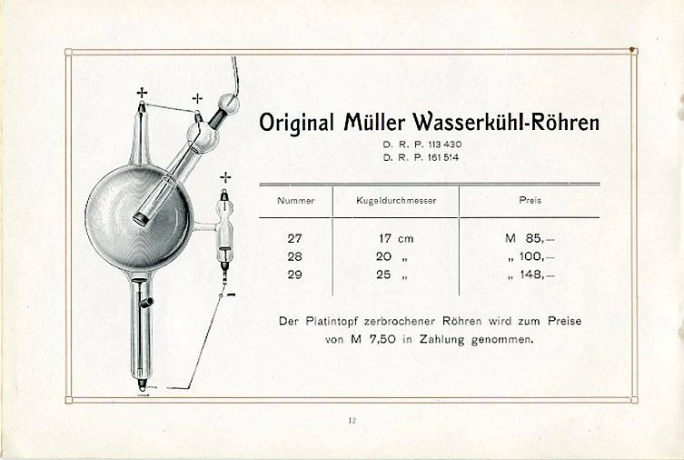 Original Müller Wasserkühl-Röhren