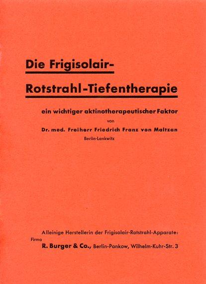 Deckblatt- Prospekt zu den ersten Untersuchungsergebnissen mit Kaltem-Rotlicht
