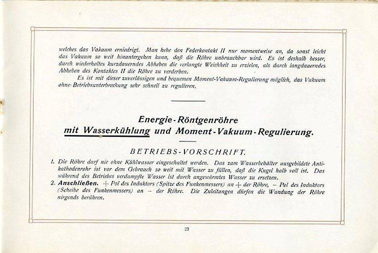 Betriebs-Vorschrift für Röhren mit Wasserkühlung Seite 2