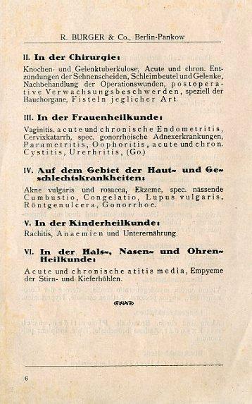 Bild: Broschüre mit Erläuterungen und Anwendungsgebiete in der Medizin zum Kalten-Rotlicht