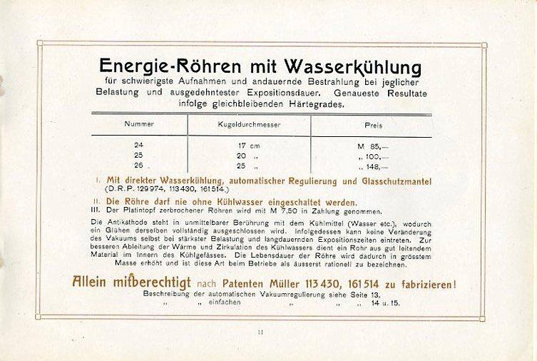 Bild: In Lizenz fertigte Burger auch Energie-Röhren nach Patenten von Müller