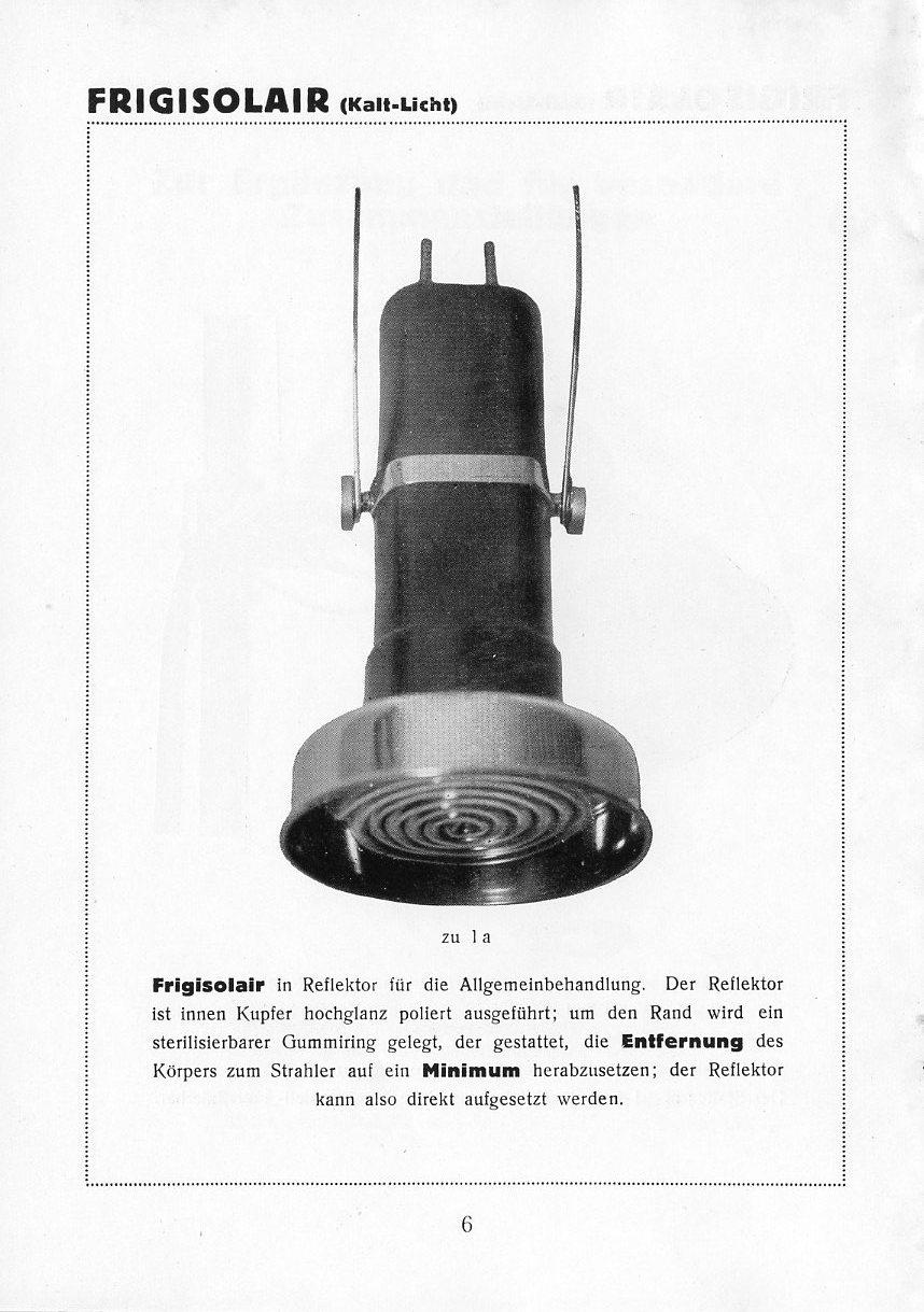Bestrahlungslampe, innen mit Kupfer und hochglanz poliert