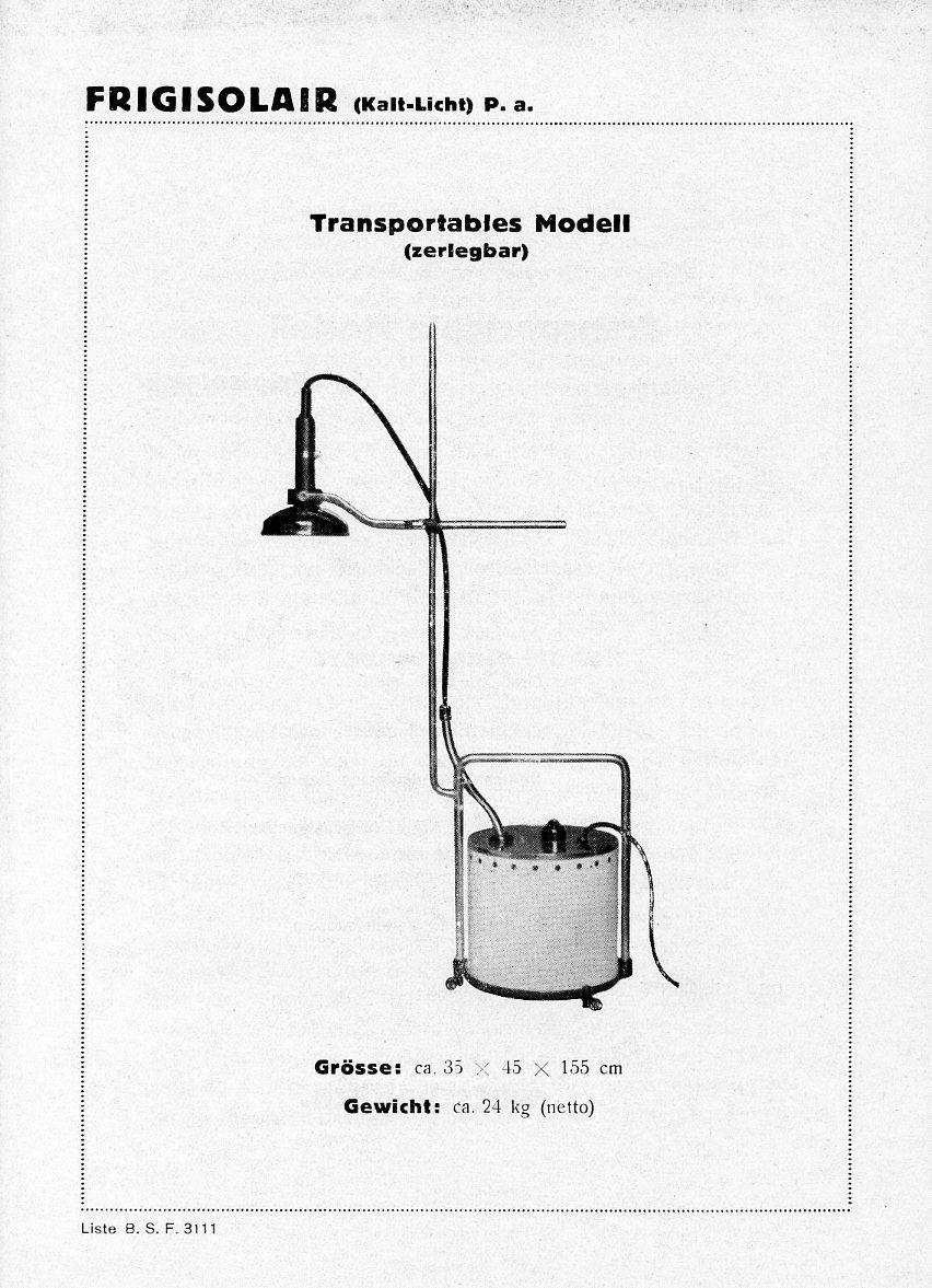 Bild: Kurze Kundeninformation zum transportablen Kalten- Rotlichtapparat