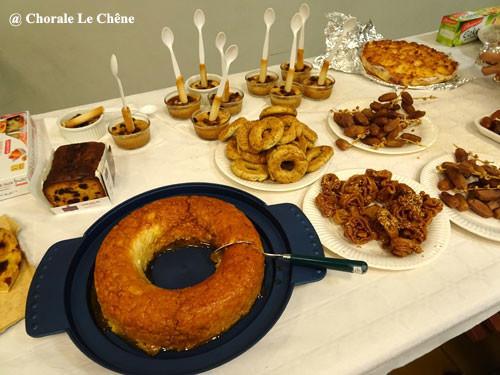 Voici la farandole des desserts...
