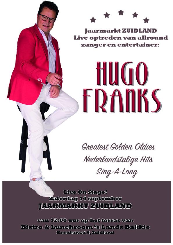 zuidland, jaarmarkt, live, optreden, hugo, franks, slandsbakkie, evenement, zuid holland
