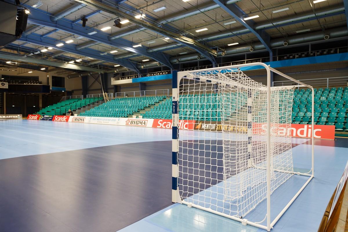 EHF M20 EURO 2016 Dänemark - Professionelle EHF Handballtore, Tornetze, Fangnetze