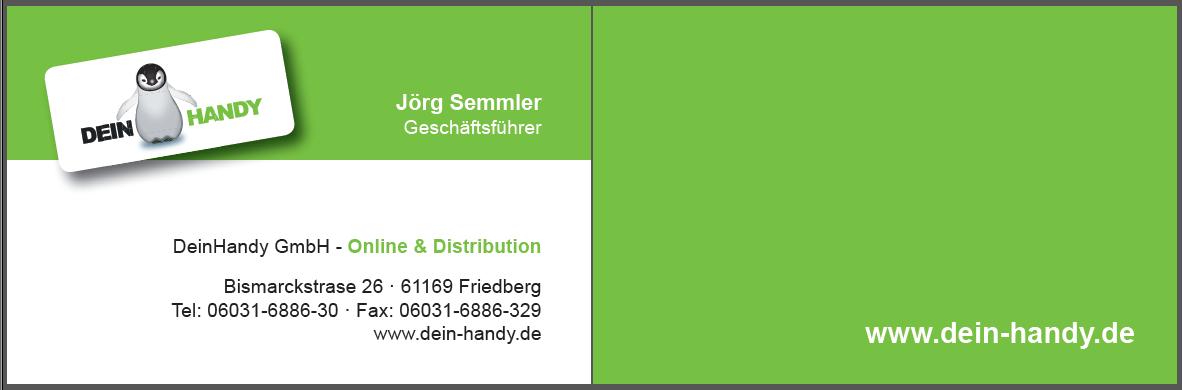 Visitenkarte (Vorder- und Rückseite)