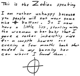 Zodiac - Biographie serial-killer