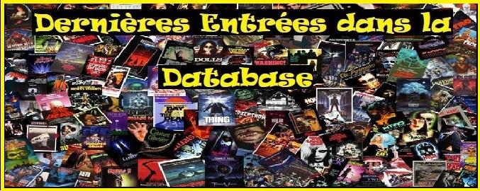 Les dernières entrées dans la Database du site