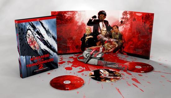 Massacre à la Tronçonneuse 2 édité en digipack Blu-Ray - Dvd chez Le Chat Qui Fume