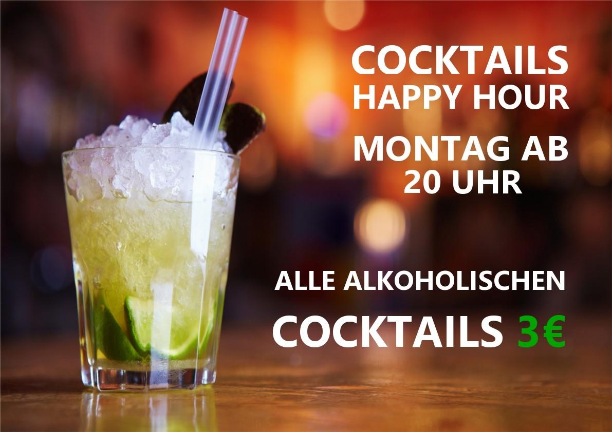 Der Cocktailstand hat an allen Abenden geöffnet