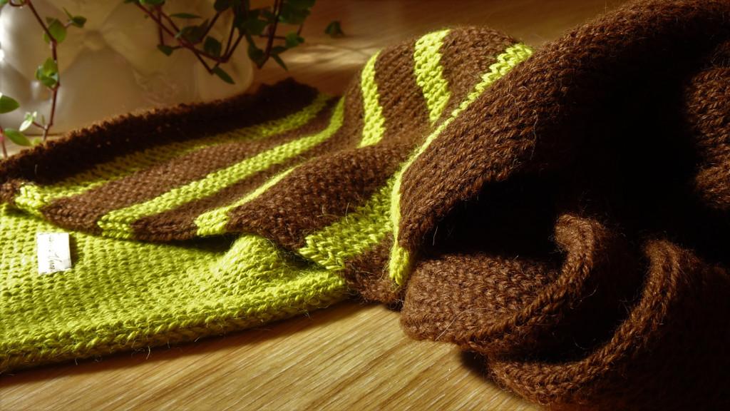 Handmade scarf with Alpaca Wool