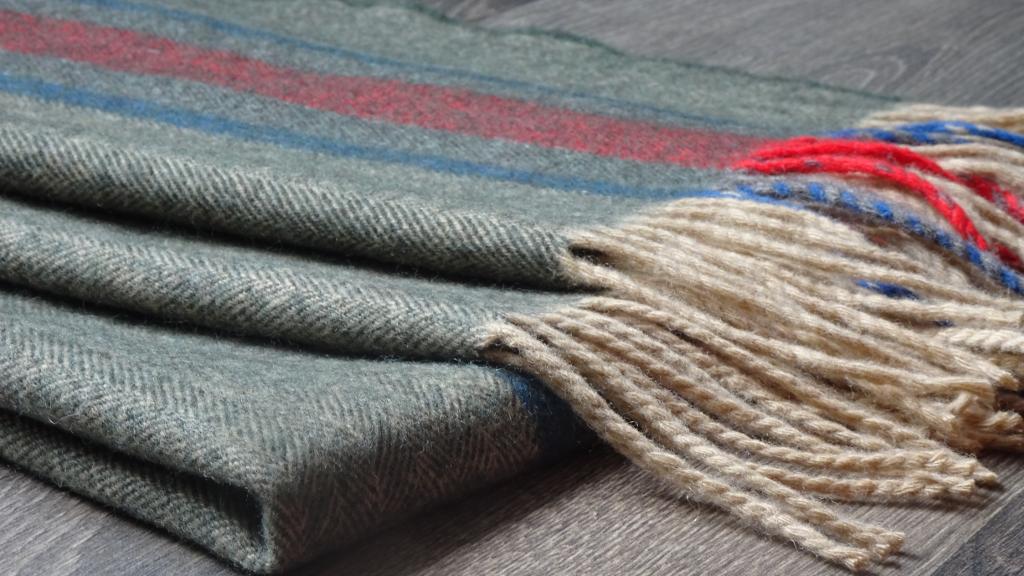 Merino Wool Striped Shawl
