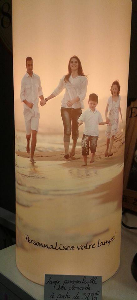 Lampe personnalisable - Une Journée à la Mer