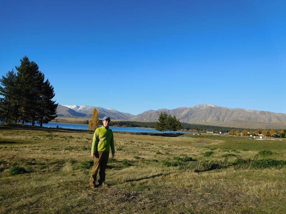 YHA Lake Tekapo前の景色