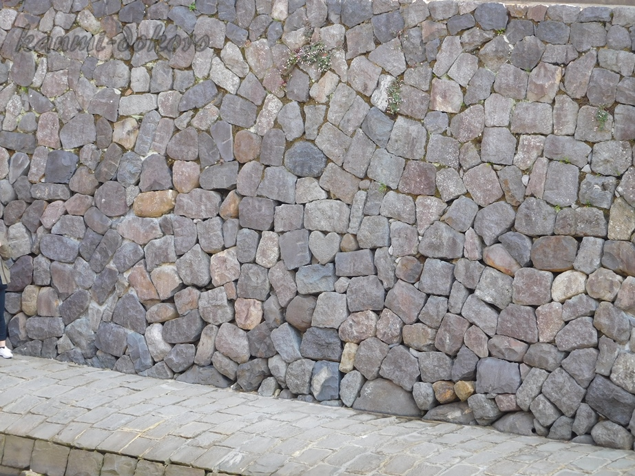 眼鏡橋隠れハートの石垣