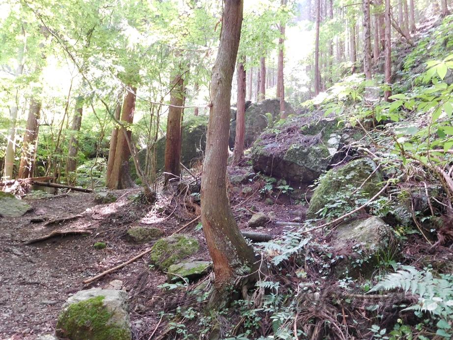 石老山の岩
