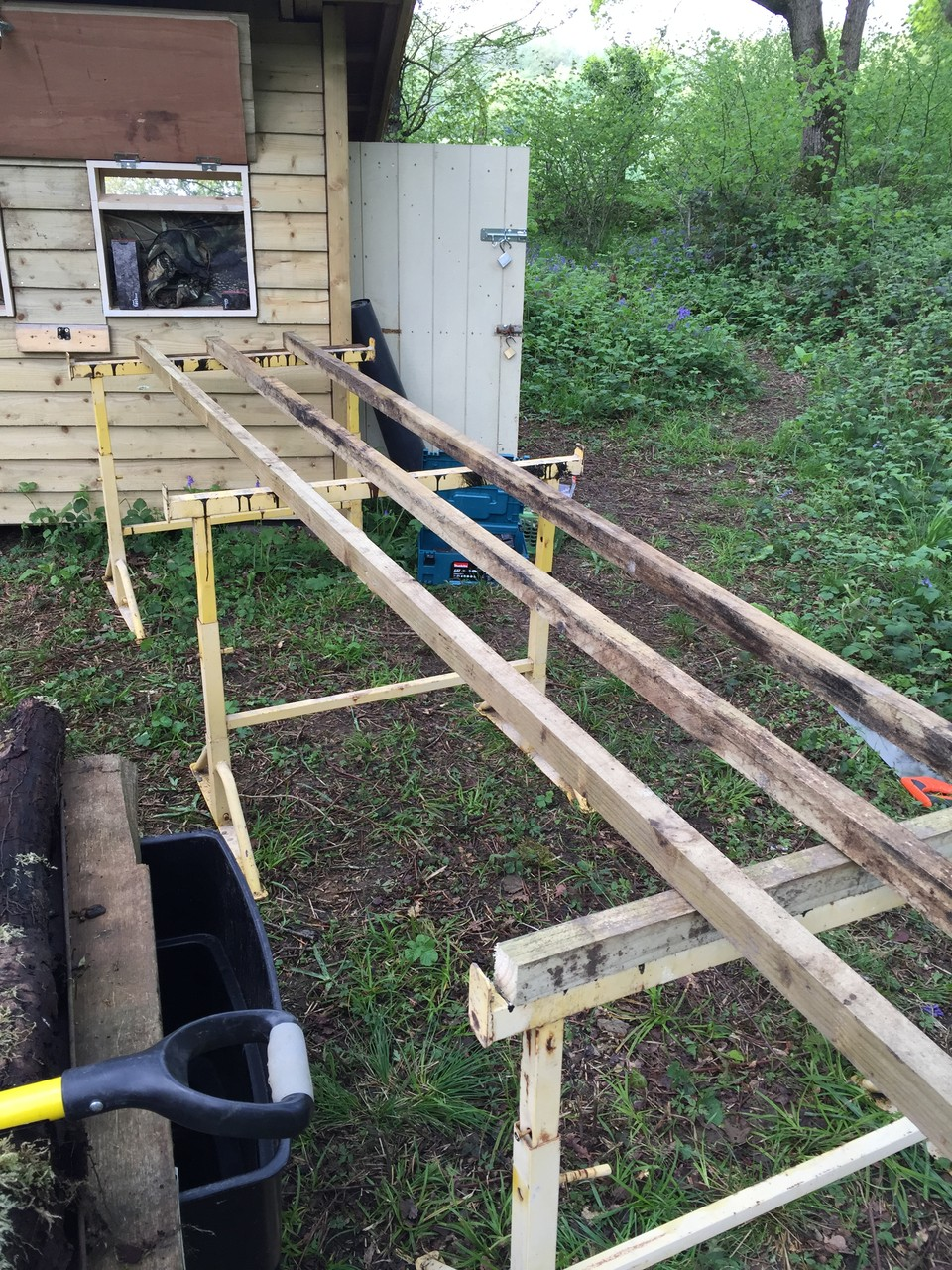 Rails to carry deck...