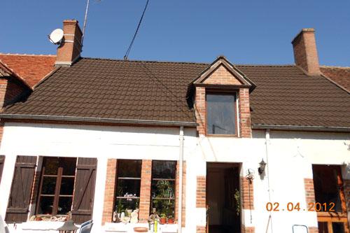 Rénovation de toiture maison ancienne, après