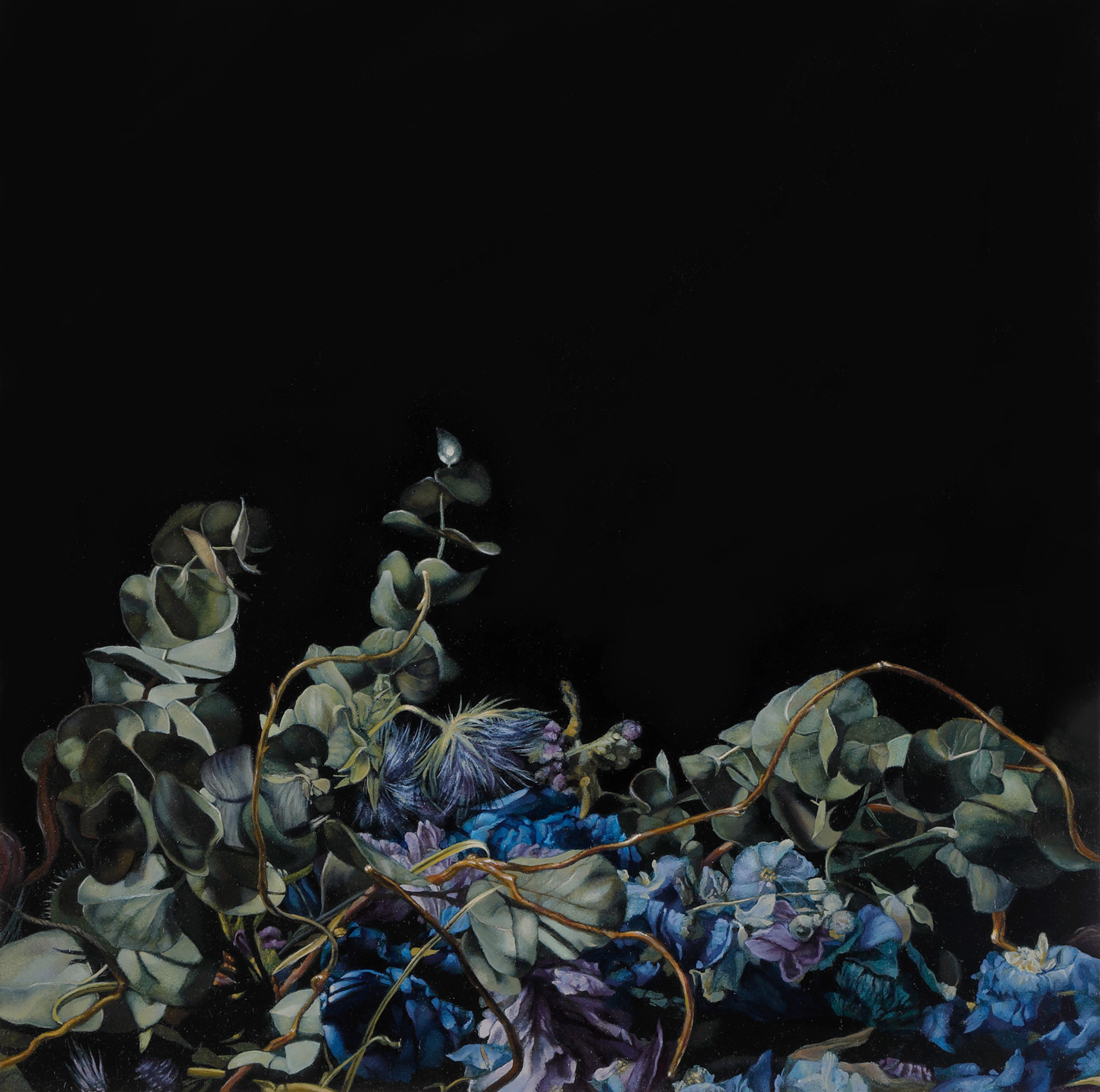 Arisa Kumagai, Parallel line, 2020, oil on panel, 33.5 x 33.5 cm