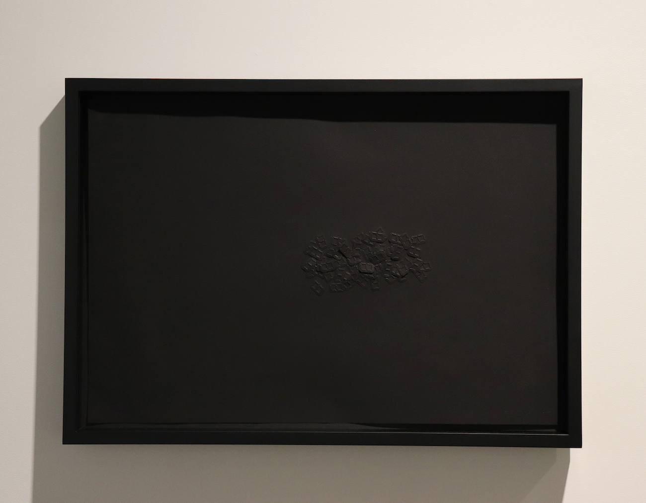 Tatsuo Miyajima, Φ, 1993, paper, embossing and collage, 37.6 x 54.6 cm (sheet),  41.8 x 59 cm (frame)