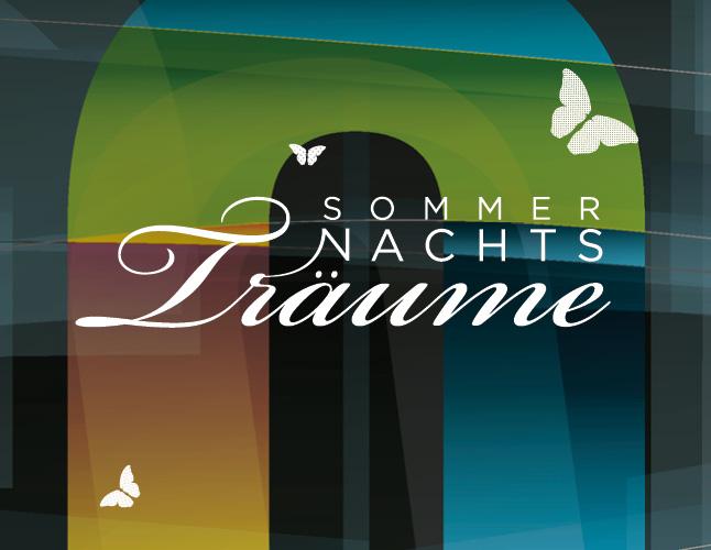 Sommernachtsträume Burgdorf: Entwicklung Logodesign (Corporate Design): Posterdesign/Grafik, Programm Layout by Lockedesign, Burgdorf bei Bern