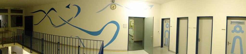 Treppenhaus Wand 2. OG