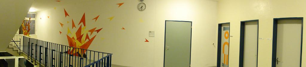 Treppenhaus Wand 1. OG