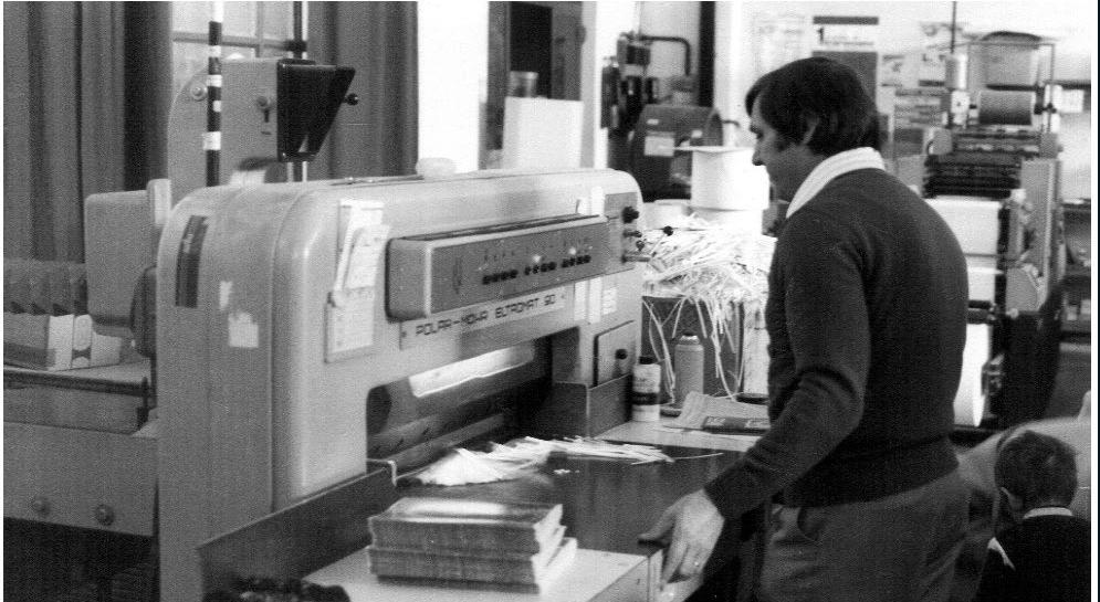 Frigeni Domenico socio fondatore al Tagliacarte anni 80