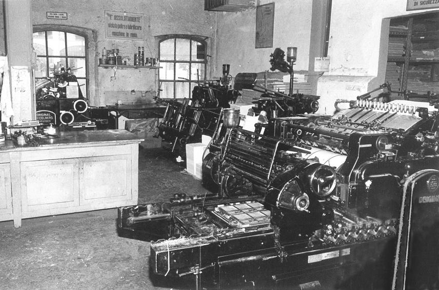 La prime macchine litografiche correvano gli anni 60