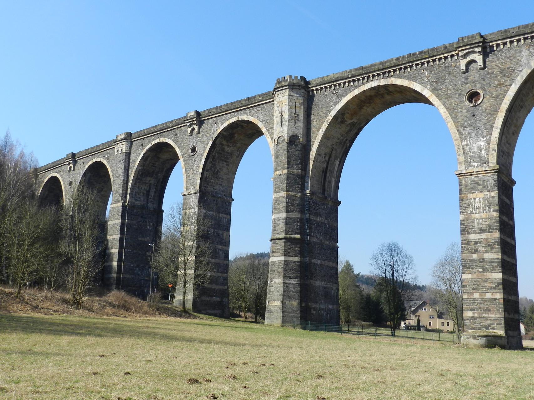 Eine Wanderung von Oederan zum Viadukt in Hetzdorf