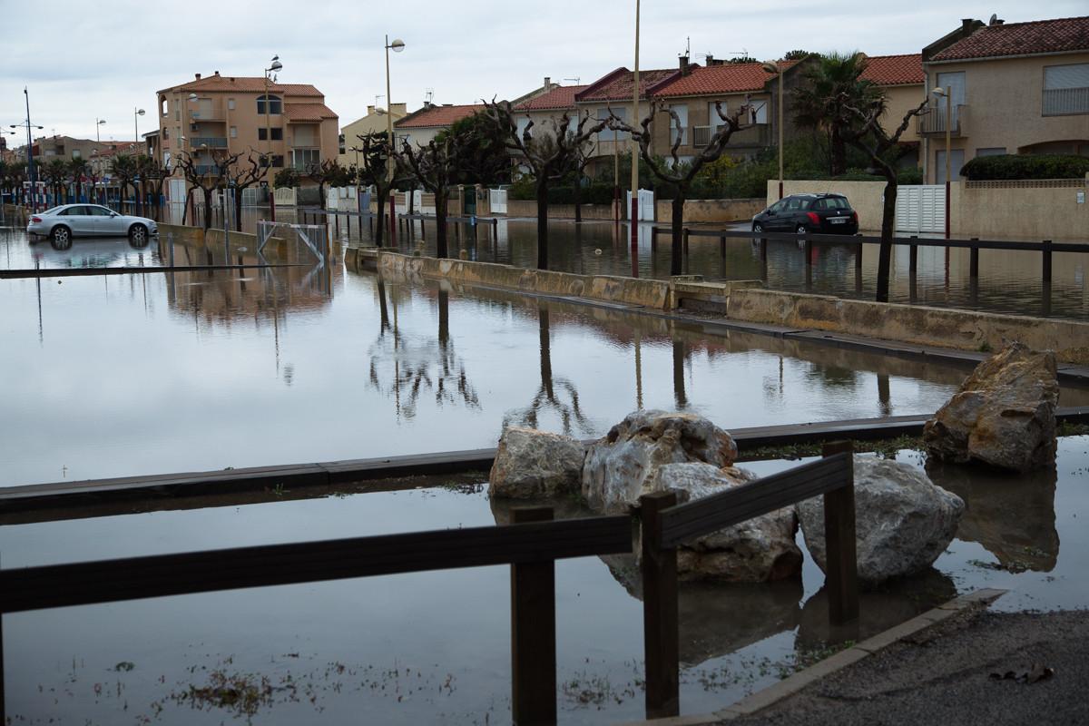 Land unter in Narbonne-Plage / St. Pierre