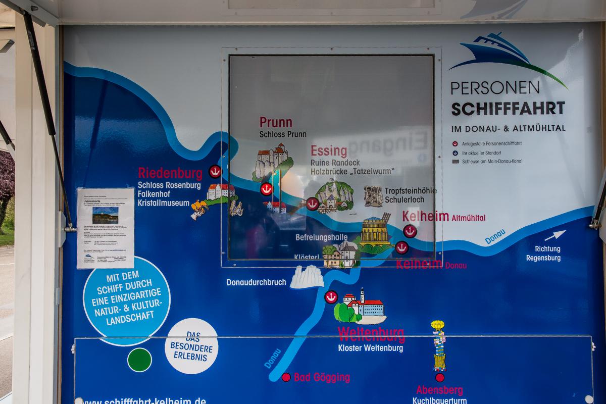 Schifffahrt auf Donau und Altmühl