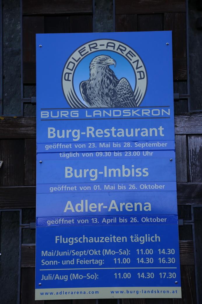 Adler-Arena an der Burg Landskron (Ossiachersee)