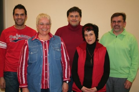 der Vorstand 2007 v.l.: Stefan Fehl, Christiane Jäger, Michael Sacher, Loritta Leipold, Bernd Leipold