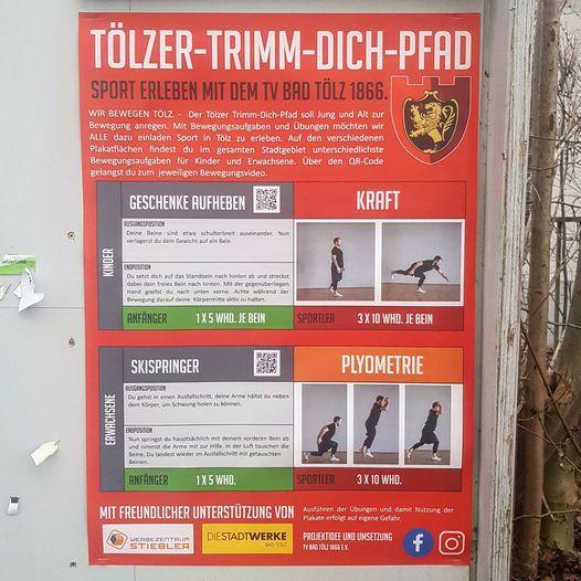 Tölzer-Trimm-Dich-Pfad - ab sofort geöffnet!