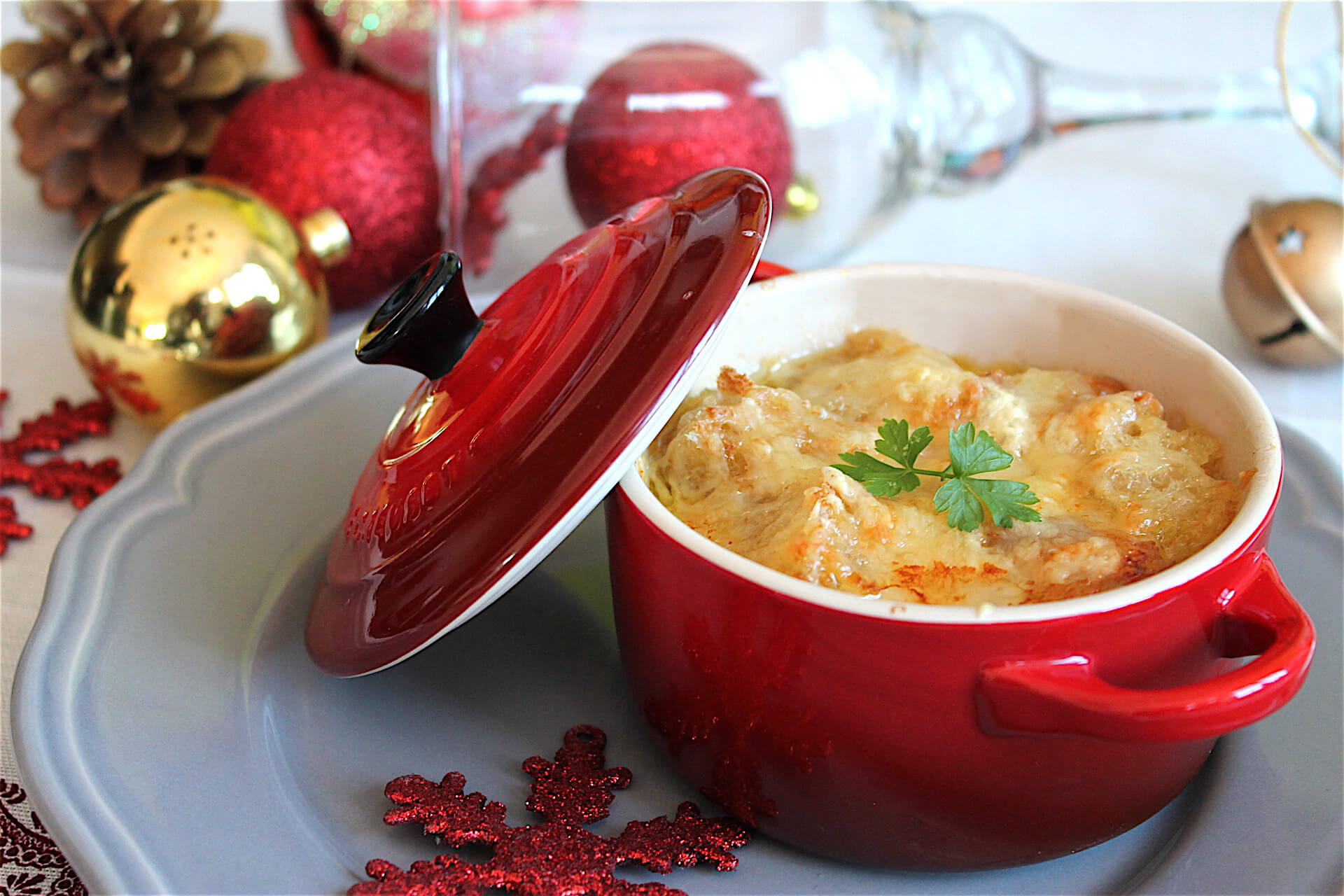 Sopa de cebolla con queso